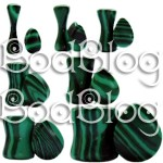 Malachite Teardrop Plugs