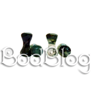 Moss Agate Double Flared Plugs 3mm
