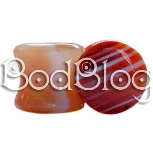 Sardonyx Double Flared Plug 12mm