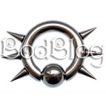 Surgical Steel Spikey CBR 6G (4mm)