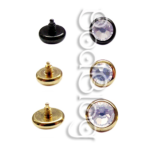 Microdermal Disks with Clear Jewels