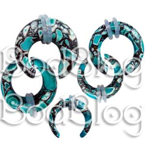 Blue Crazy Agate Buffalo Claws