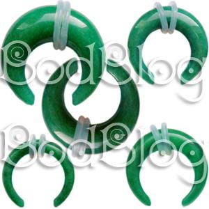 Dark Green Jade Buffalo Claws