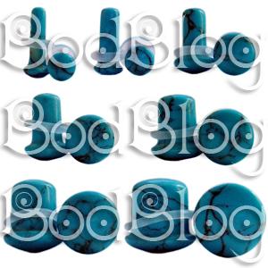 Turquoise Single Flared Plugs