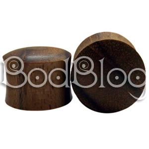 Teak Wood Double Flared Plugs 16mm