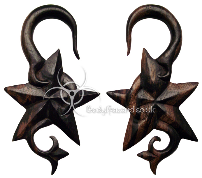 Ebony Wood Star Hooks