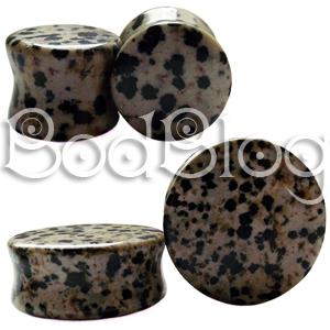Dalmatian Jasper Stone Plugs