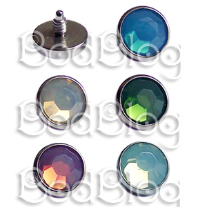 Faceted Microdermal Disks in New Opal Colours
