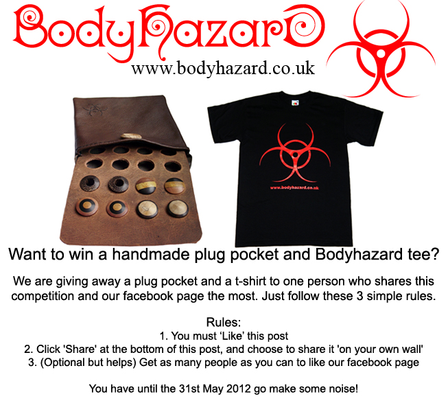 Like us on facebook and win a free tee and plug pocket