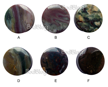 Moss Agate Double Flared Plugs