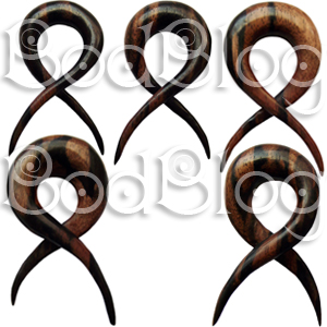 Ebony Wood Crossover Spirals