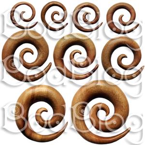 Red Mahogany Spirals